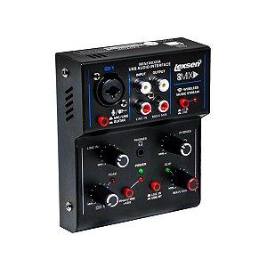 Mesa de Som de 1 Canal com Interface de Audio USB - Go Mix 1- Lexsen