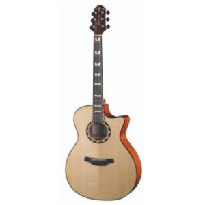 Violao G.audit.cutaway T/solid Spruce B/s Mogno Eq Cr-t Nv Gloss Hg-520ce/n Crafter