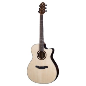 Violao G.audit.cutaway T/solid Spruce B/s Rosewood  Eq Cr-t Nv Gloss Hg-700ce/n Crafter
