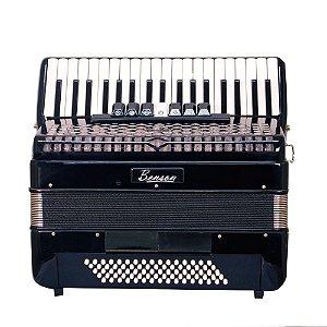 Acordeao 80 baixos Benson BAC80-7SBK preto, 9 registros