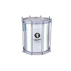 Repinique 10 Pol X 30 Cm Aluminio Polido C/aro Cromado Pele Leitosa Timbra
