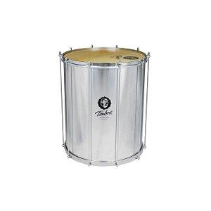 Surdo Samba 18 Pol X 55 Cm Aluminio C/aro Cromado Pele Animal Timbra