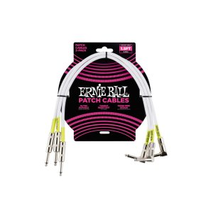 Cabo Pedal/pedal 1,5' (45,72 Cm) Plug Reto/l Pct C/3 Branco P06056 Ernie Ball