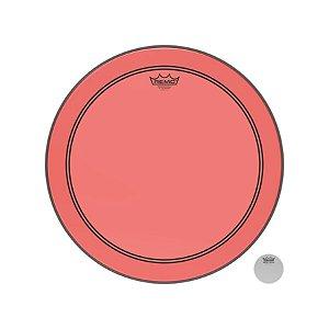 Pele P/ Bumbo 18 Pol Powerstroke 3 Colortone Transparente Vermelha P3-1318-ct-rd Remo