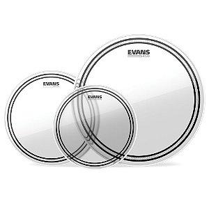 Kit De Peles Para Tons \u002d Tompack EC2S Transparente Standard Evans ETP\u002dEC2SCLR\u002dS