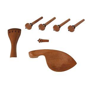 Kit P/violino 4/4 Boxwood Hill 7 Pecas C/pino Colar Preto Dominante Orchestral