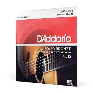 Encordoamento Violão Aço .013 D'Addario Bronze 80/20 EJ12