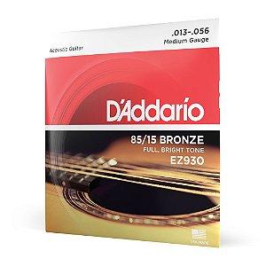 Encordoamento Violão Aço .013 D'Addario Bronze 85/15 EZ930