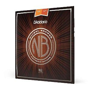 Encordoamento Violão Aço .010 D'Addario Nickel Bronze NB1047