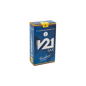 Palheta V21 4 P/ Sax Soprano Cx C/10 Sr804 Vandoren