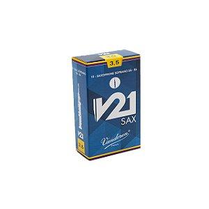 Palheta V21 3,5 P/ Sax Soprano Cx C/10 Sr8035 Vandoren