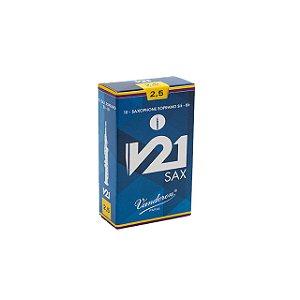 Palheta V21 2,5 P/ Sax Soprano Cx C/10 Sr8025 Vandoren