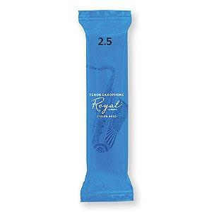 Palheta Sax Tenor2.5 (unidade) D'Addario Woodwinds Rico Royal 25/RKB0125-B25