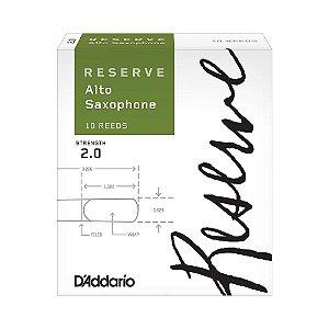 Palheta Sax Alto 2 (caixa com 10) D'Addario Woodwinds Reserve DJR1020