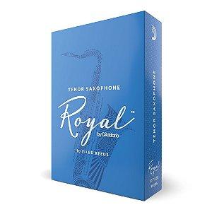 Palheta Sax Tenor 3 (caixa com 10) D'Addario Woodwinds Rico Royal RKB1030