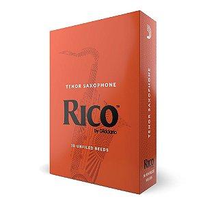 Palheta Sax Tenor 1.5 (caixa com 10) D'Addario Woodwinds Rico Reeds RKA1015