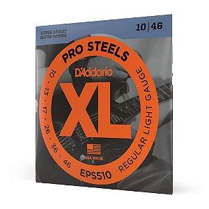 Encordoamento Guitarra .010 D'Addario XL Pro Steels EPS510