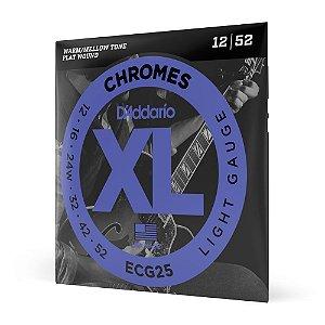 Encordoamento Guitarra .012 D'Addario XL Chromes ECG25