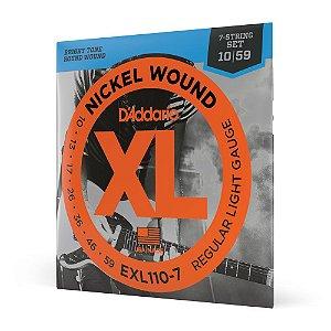 Encord Guitarra 7C .010 D'Addario XL Nickel Wound EXL110-7
