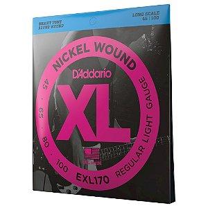 Encordoamento Baixo 4C .045 D'Addario XL Nickel Wound EXL170