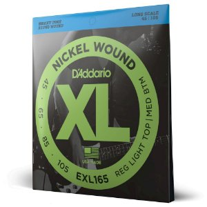 Encordoamento Baixo 4C .045 D'Addario XL Nickel Wound EXL165