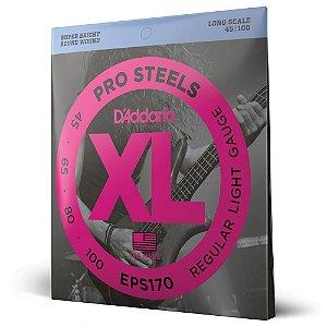 Encordoamento Baixo 4C .045 D'Addario XL ProSteels EPS170