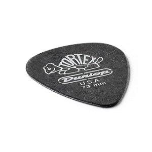 Palheta Tortex 0,73mm Preta Pct C/12 488p.73 Dunlop