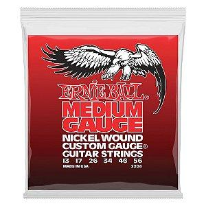 Enc. 013-056 P/ Guitarra Medium Slinky (g Encapada) Niquel P02204 Ernie Ball