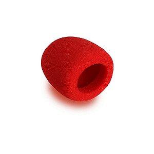 Espuma Antipuff Vermelha Para Mics Onstage ASWS58-R Vermelho