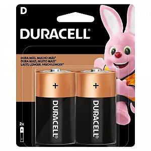 Pilha Alcalina D MN1300 (Caixa c/12 pilhas)(Cartela c/2 pilhas) DURACELL - CXF / 6