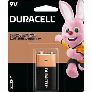 Bateria Alcalina 9V MN1604(Caixa c/12 baterias)(cartela c/1 bateria) DURACELL - CXF / 12