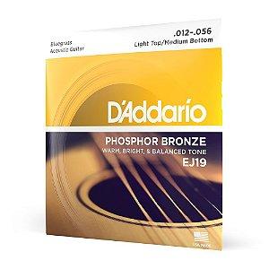 Encordoamento Violão Aço .012 D'Addario Phosphor Bronze EJ19