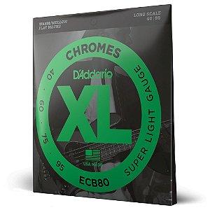 Encordoamento Baixo 4C .040 D'Addario XL Chromes ECB80