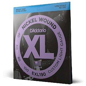 Encordoamento Baixo 4C .040 D'Addario XL Nickel Wound EXL190
