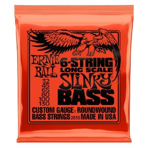 Enc. 032-130 P/ Baixo 6 Cordas Slinky Long Scale Niquel P02838 Ernie Ball