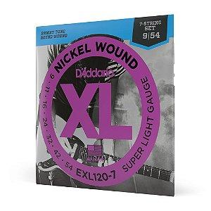 Encord Guitarra 7C .009 D'Addario XL Nickel Wound EXL120-7