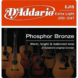 Encordoamento para Violão EJ15 Phosphor .010 D Addario