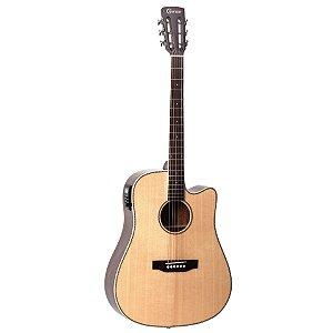 Violao Folk Cutaway T/solid Spruce B/s Mogno Eq Cr-t Nv Gloss Rd-600ce/n Crafter