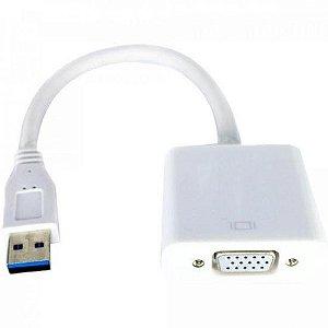 Adaptador USB 3.0 Macho p/ VGA Fêmea ADAP0067 Branco STORM