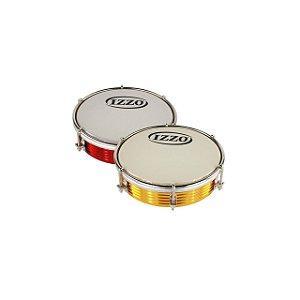 Tamborim 06 Pol Aluminio Anodizado Cores Sortidas C/pele Leitosa Cx C/10 Izzo