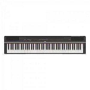 Piano Digital YAMAHA Compacto c/ Fonte P125B Preto