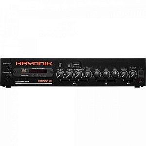 Amplificador PRO2010 200W RMS C/ Gongo HAYONIK