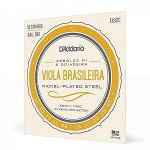 Encordoamento para Viola EJ82C Nickel Plated Steel D Addario
