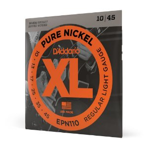 Encordoamento Guitarra .010 D Addario XL Pure Nickel EPN110