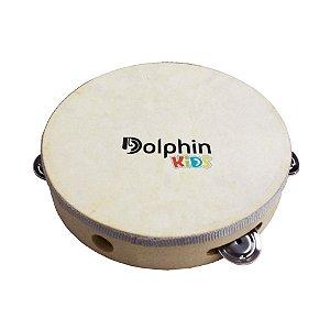 Pandeiro Infantil 8 Pol Madeira C/pele Animal Dolphin
