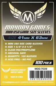 Sleeves 41 x 63 mm (Mini Usa) – Mayday