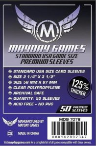 Sleeves  Premium  56 x 87 mm (Usa Padrão) – Mayday