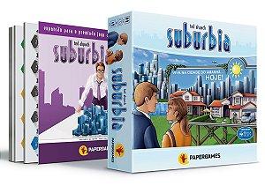 "Pré Venda - Suburbia + Suburbia Inc + Expansão Promocional ""Essen Spiel"""