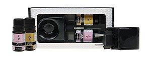 Kit Presente Aromatizador Black e Essências - Canela da Índia e Flor de Cerejeira.