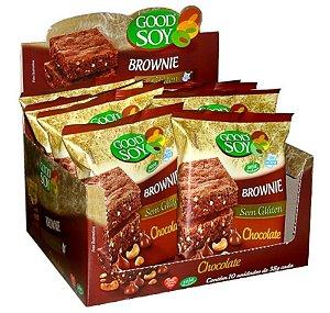 BROWNIE GOODSOY SABOR CHOCOLATE - DP 1 / 10 UN